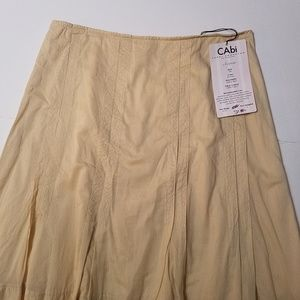 CAbi A Line Ashley Skirt Peaches Color Size 6 New